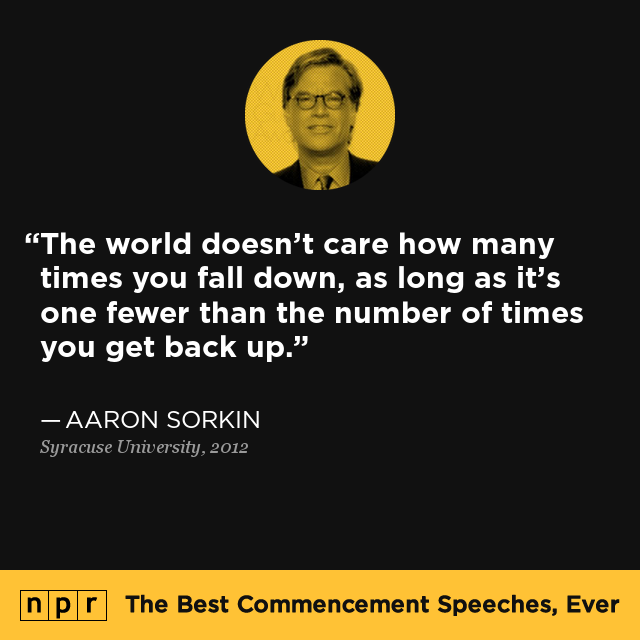 Aaron Sorkin At Syracuse University May 13 2012 The Best Commencement Speeches Ever Npr