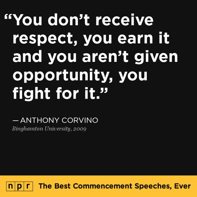 Where Is Life University >> Anthony Corvino at Binghamton University, 2009 : The Best Commencement Speeches, Ever : NPR