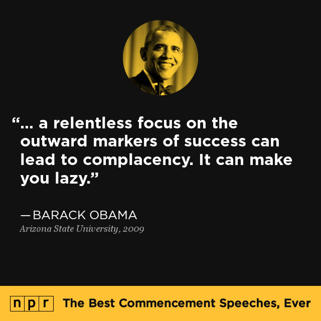 commencement speeches on success A selection of clips from the first lady's recent speeches from a part of town where success mrs obama's choice of venues for commencement.