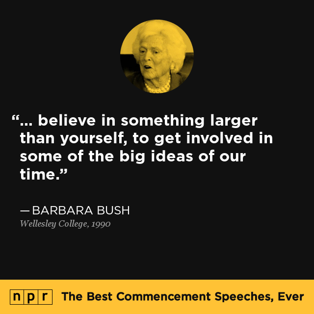 Barbara Bush At Wellesley College 1990 The Best Commencement