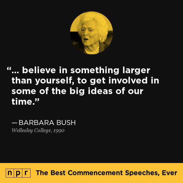 Barbara Bush at Wellesley College, 1990 : The Best ...