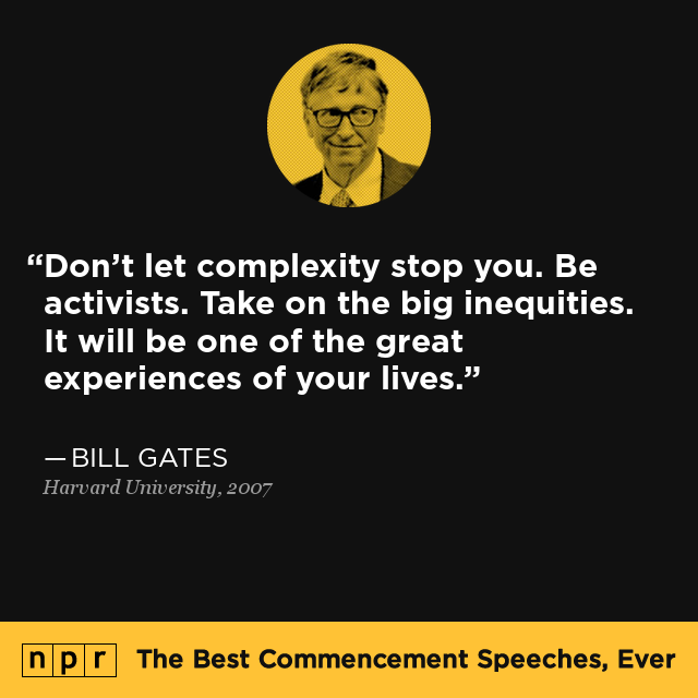 Bill Gates at Harvard University, June 7, 2007 : The Best