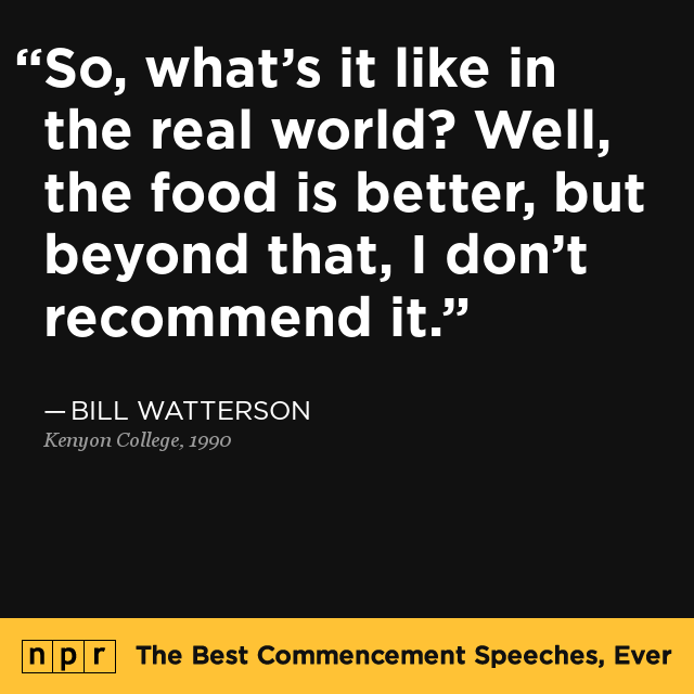 best college commencement speeches The best advice from commencement speeches the best advice from 2017 commencement speeches she advised the graduates of skidmore college to.