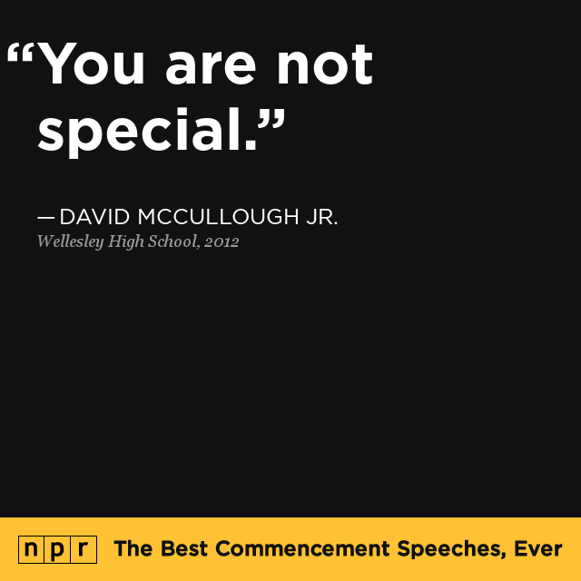 The Best Commencement Speeches, Ever : NPR