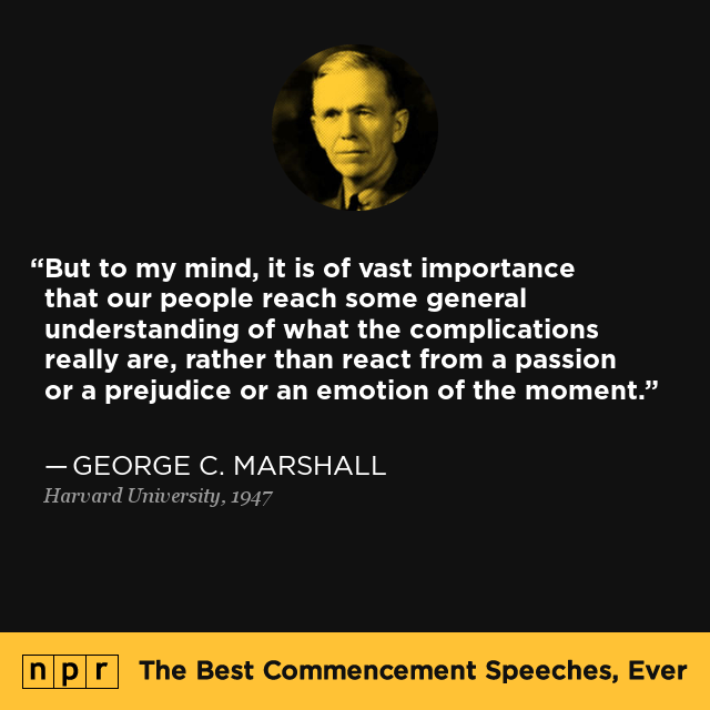 george c marshall at harvard university 1947 the best