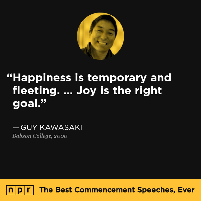 Guy Kawasaki at Babson College, May 20, 2000 : The Best Commencement ...