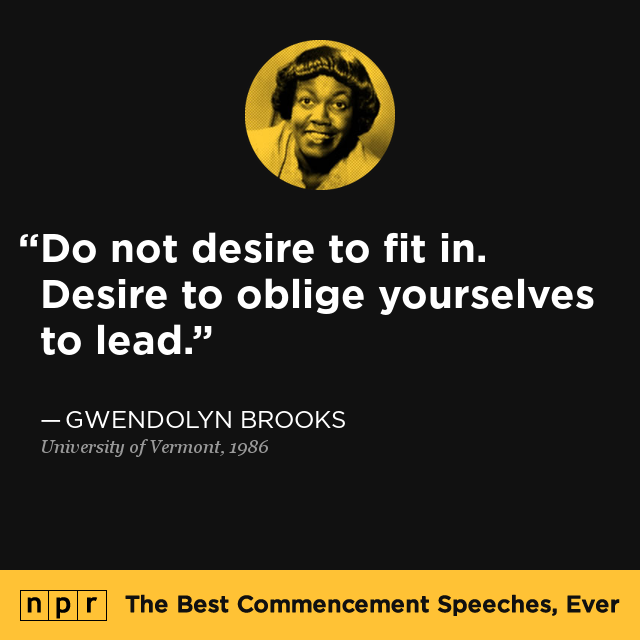 Gwendolyn Brooks At University Of Vermont, 1986 : The Best