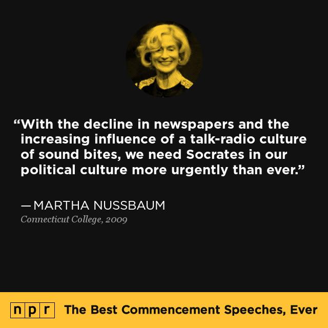 Martha Nussbaum at Connecticut College 2009 The Best Commencement