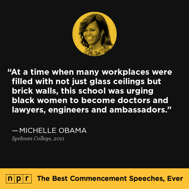michelle obamas graduation speech at spelman college