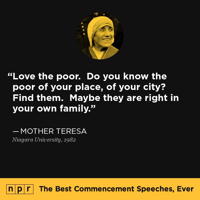 a speech on mother teresa