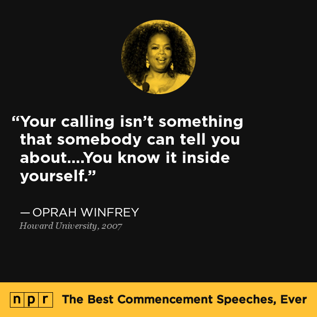 oprah winfrey commencement speech essay The oprah winfrey delivers fantastic graduation speech at howard university , 2007.