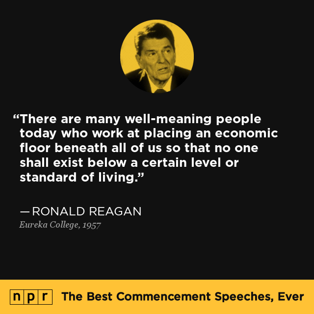 Terms Of Use >> Ronald Reagan at Eureka College, June 1, 1957 : The Best ...