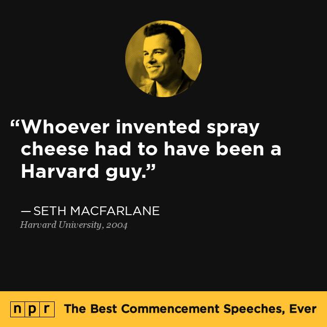 Seth MacFarlane at Harvard University, 2004 : The Best ...