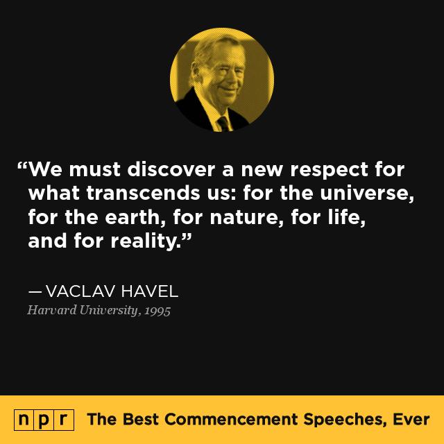 vaclav havel at harvard university  may 12  1995   the