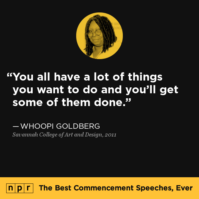 whoopi goldberg at savannah college of art and design  2011   the best commencement speeches