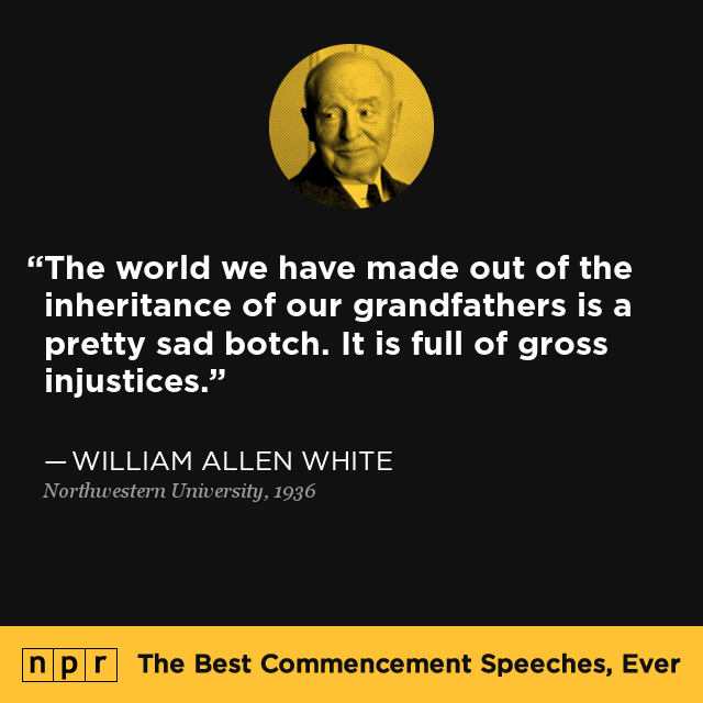 william allen white at northwestern university 1936 the