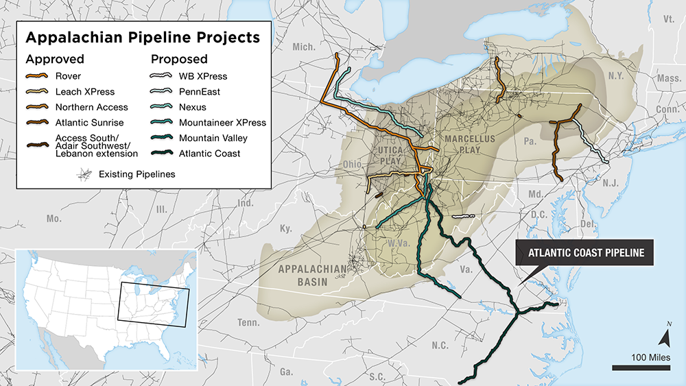 Appalachian pipeline map