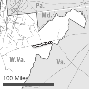 Map showing the WB XPress route